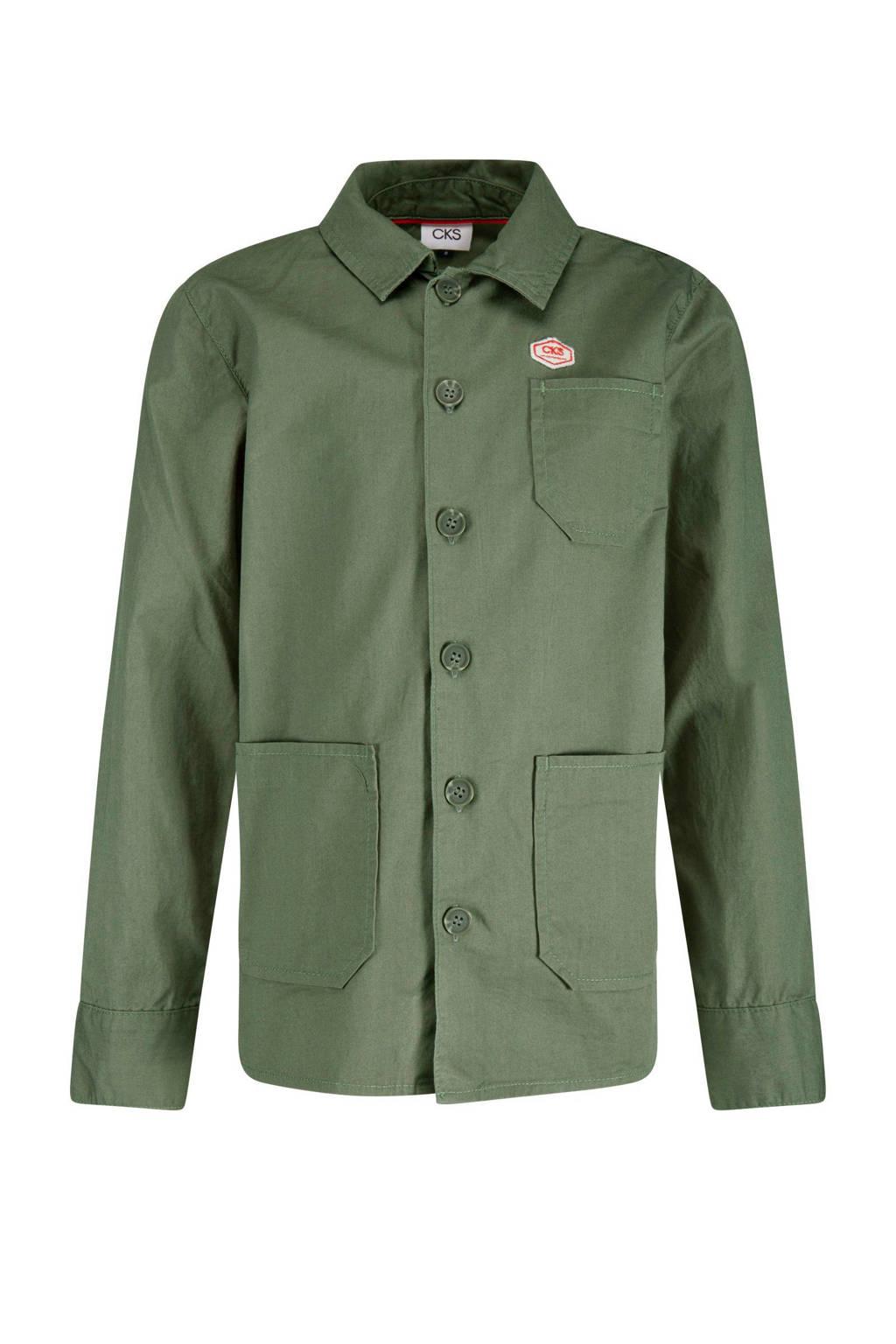 CKS KIDS overhemd Yabot khaki groen, Khaki groen