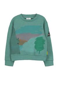 fred + ginger sweater Toon met printopdruk warm green, WARM GREEN