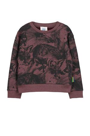 sweater Toon met printopdruk brownstone
