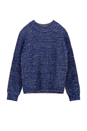 trui Xanto met wol donkerblauw
