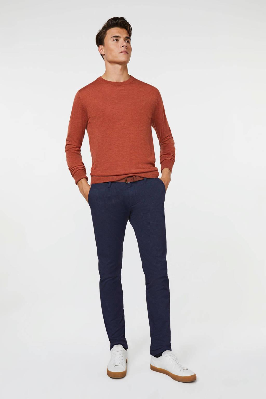 WE Fashion skinny chino donkerblauw, Donkerblauw