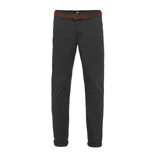 WE Fashion slim fit chino dark grey