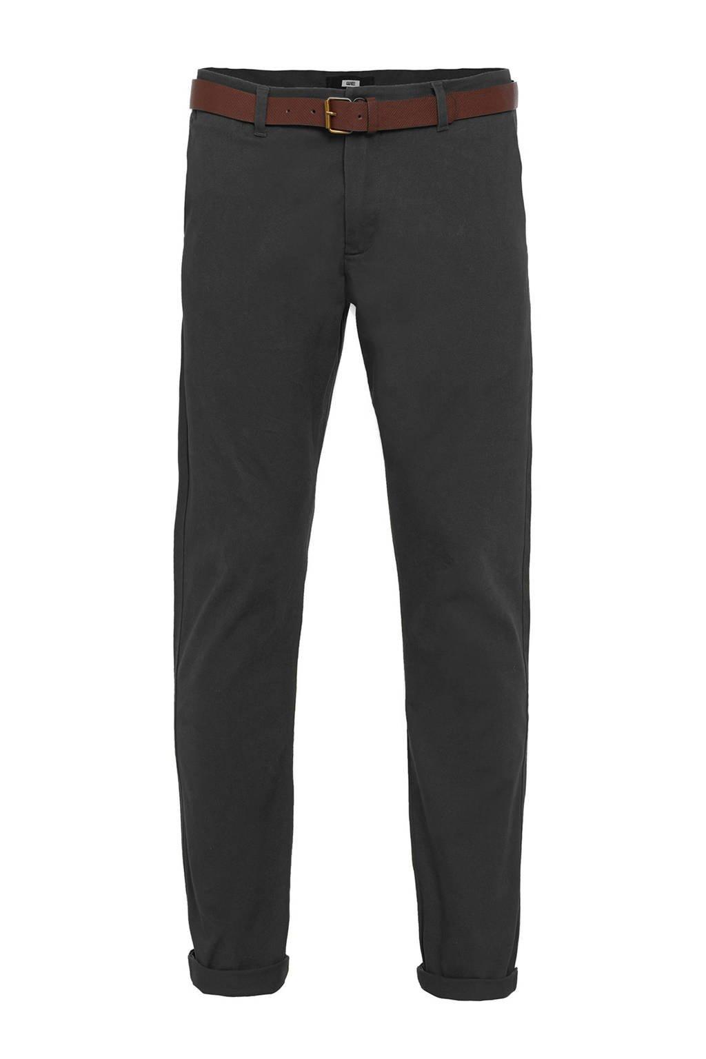 WE Fashion slim fit chino dark grey, Dark grey