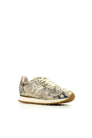Ydun Snake  leren sneakers slangenprint beige