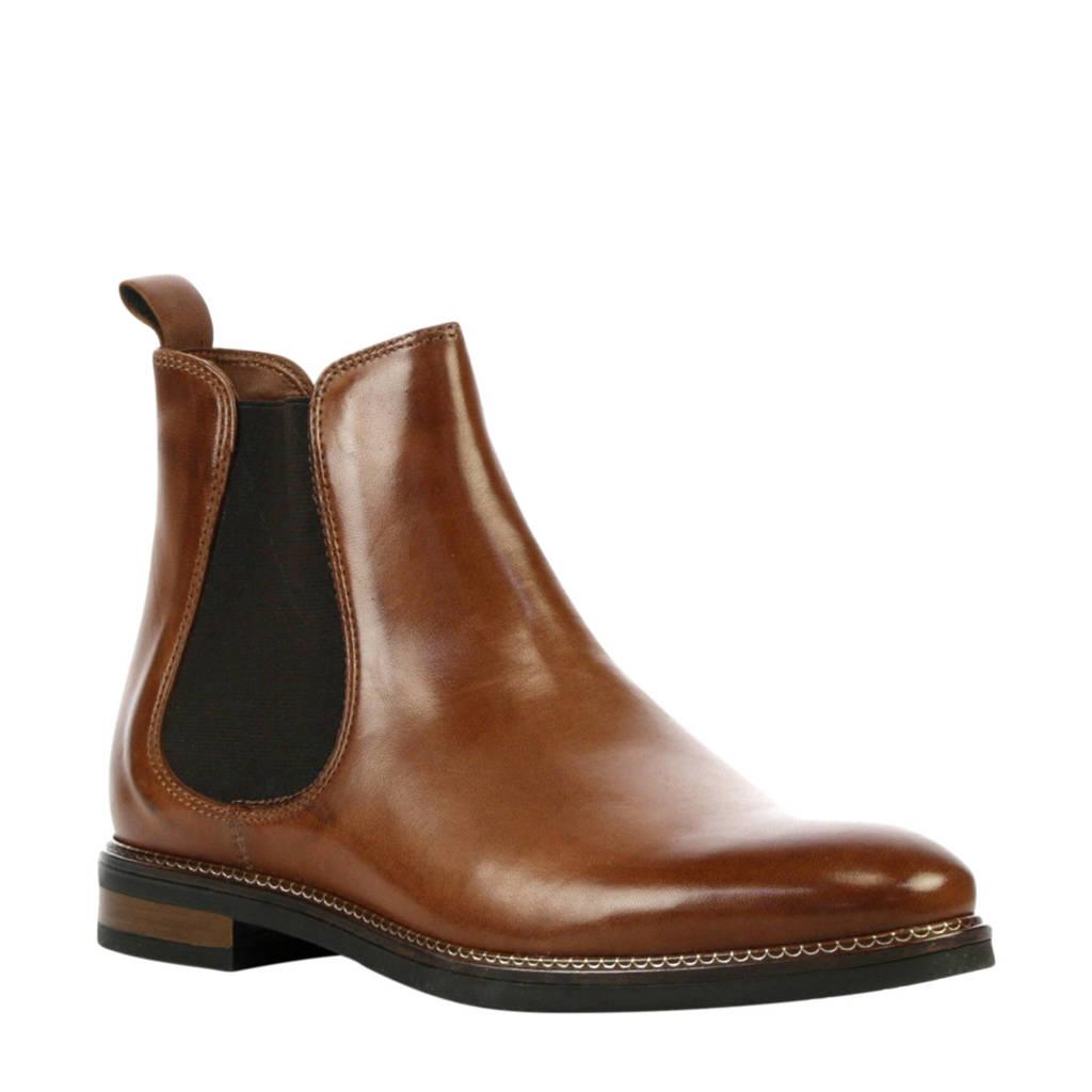 Stefano Lauran   Florence leren chelsea boots bruin, Bruin