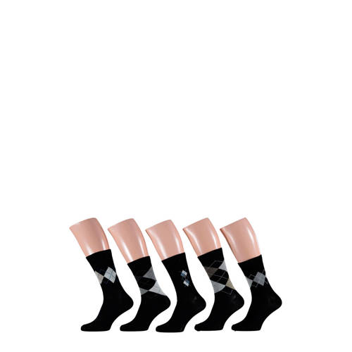 Apollo sokken 5-pak zwart