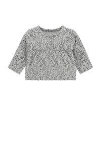 Noppies baby longsleeve Chattanooga met all over print grijs/zwart, Grijs/zwart