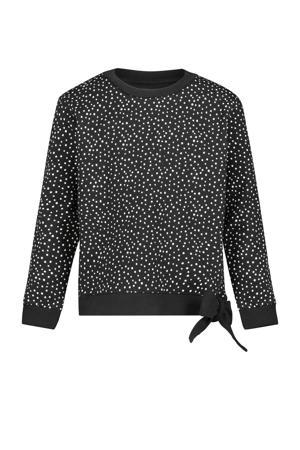 sweater Conroe van biologisch katoen zwart/wit