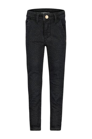 skinny jeans Casselberry met all over print antraciet