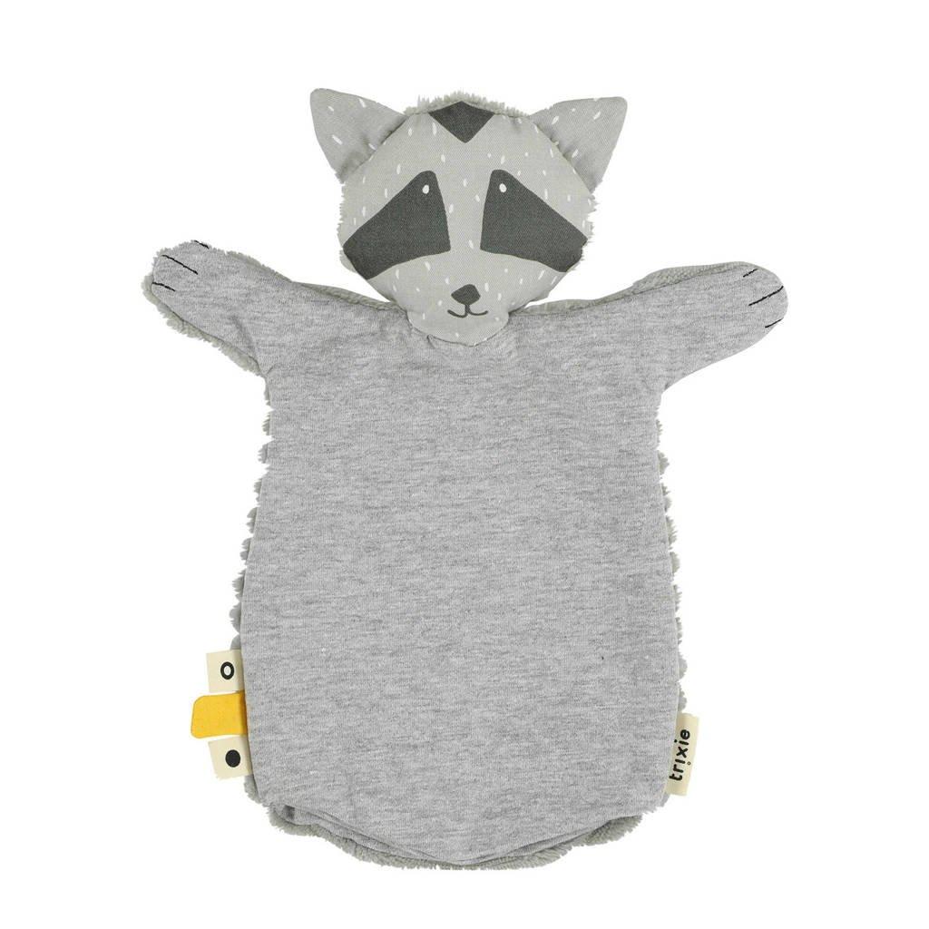 Trixie Mr. Raccoon handpop knuffeldoekje, Grijs