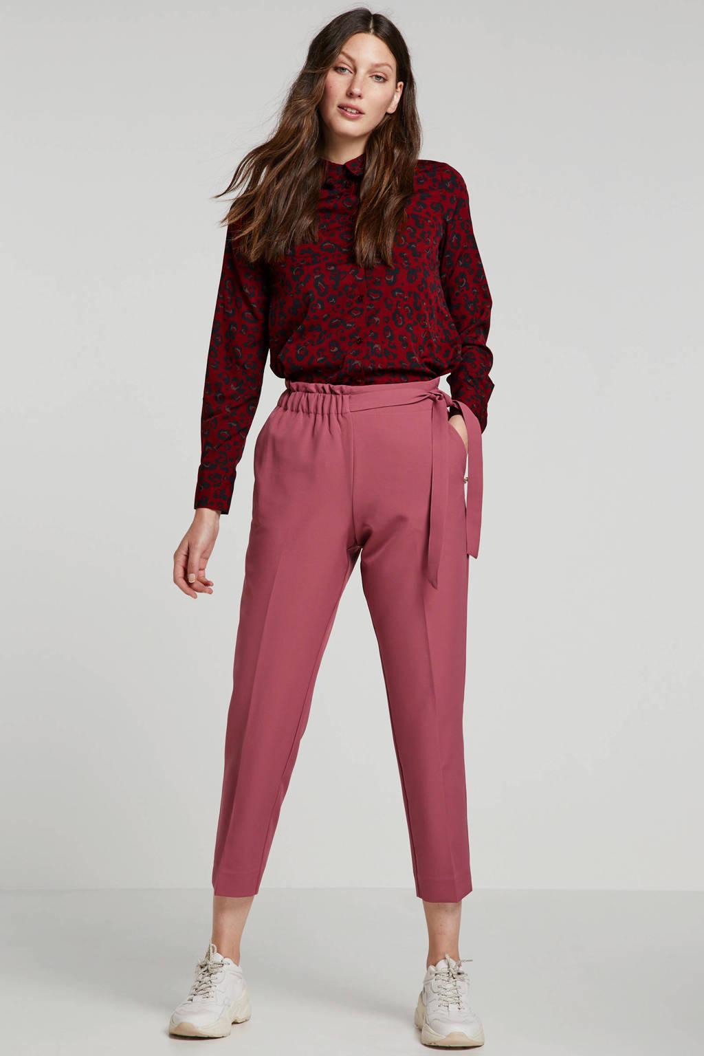 Tom Tailor Denim tapered fit broek roze, Roze