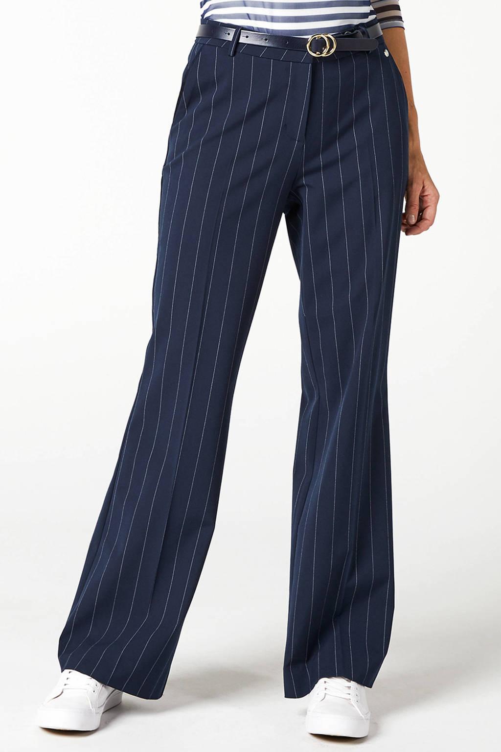Betere Steps loose fit broek met krijtstreep donkerblauw | wehkamp RJ-32
