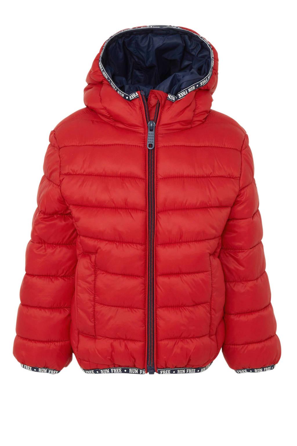 C&A Palomino winterjas met contrastbies en contrastbies rood, Rood