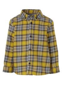 River Island geruit overhemd geel/grijs/wit, Geel/grijs/wit