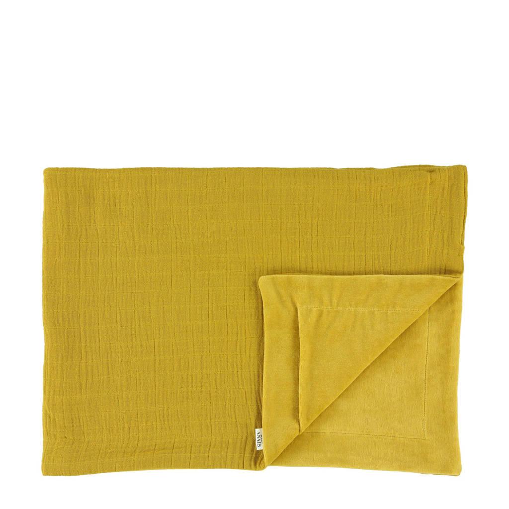 Les Rêves d'Anaïs baby wiegdeken 75x100 cm bliss mustard, Bliss Mustard