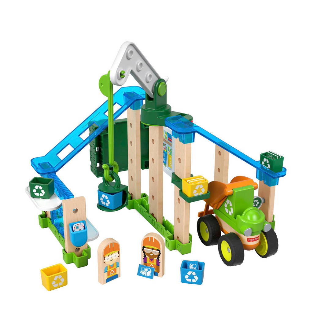 Fisher-Price Wonder Makers houten recycling centrum