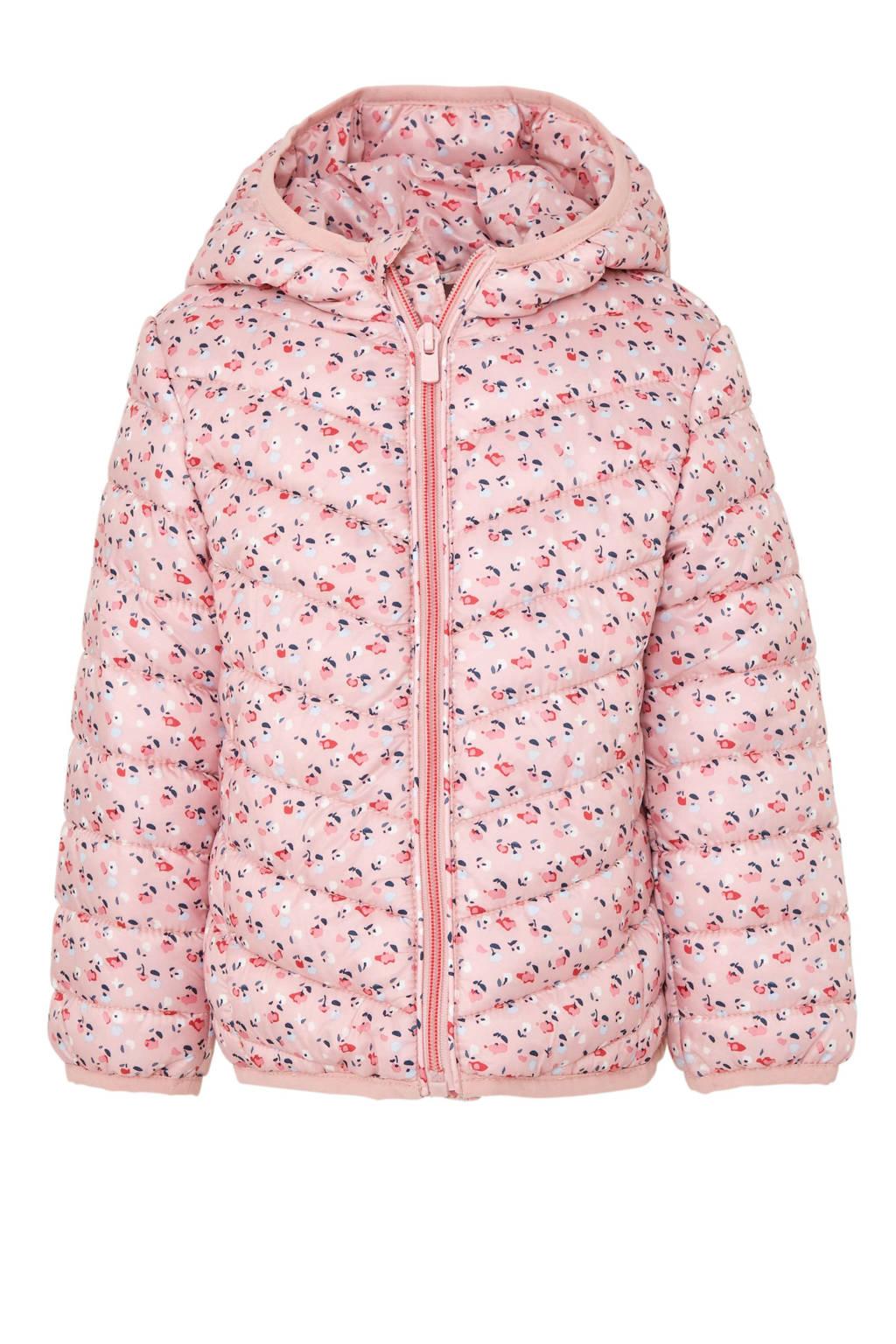 C&A Palomino gebloemde winterjas lichtroze, Lichtroze