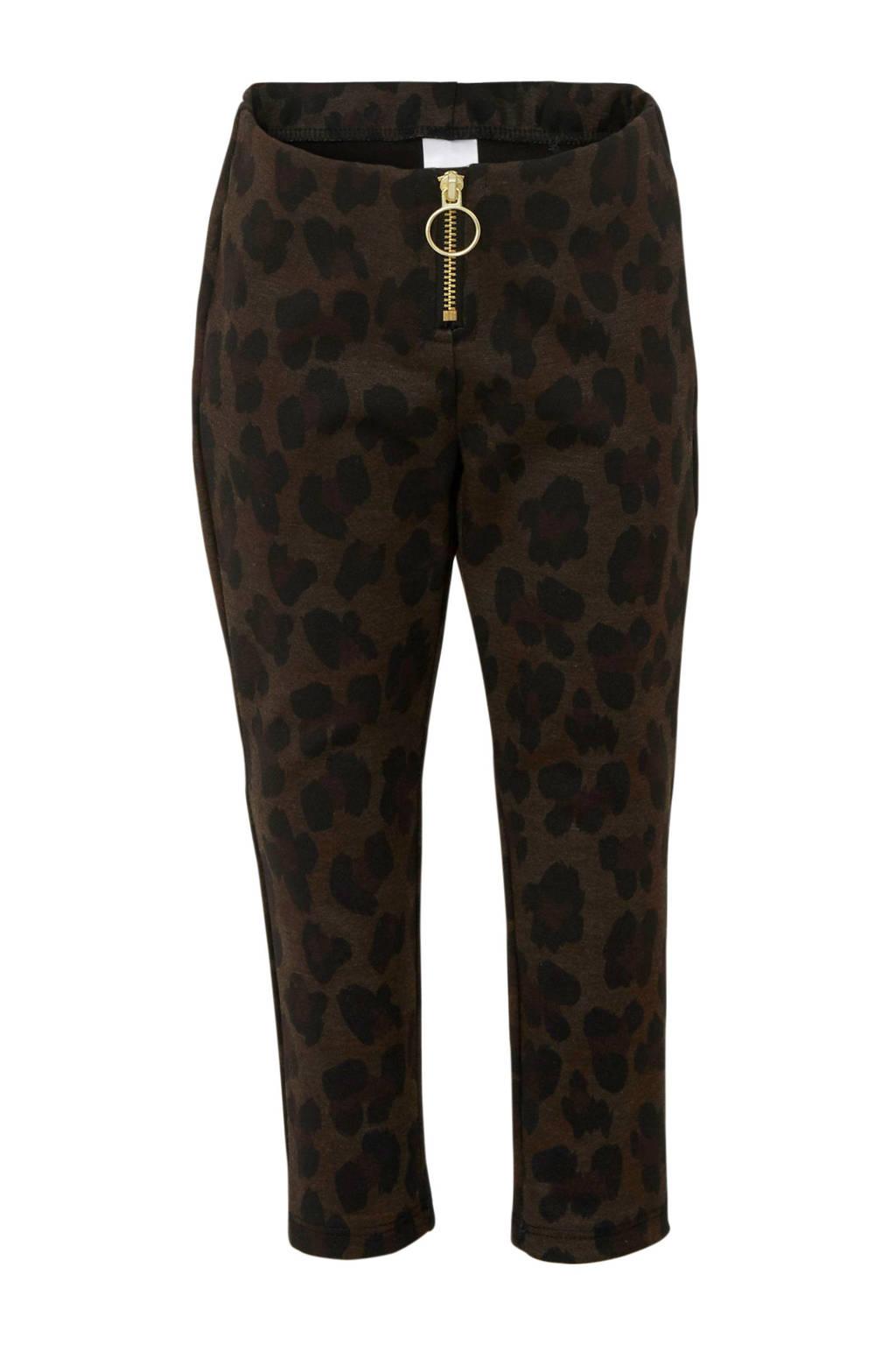 C&A Palomino skinny broek met panterprint bruin, Bruin