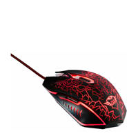 Trust  GXT 105 Izza gaming muis, Zwart, Rood