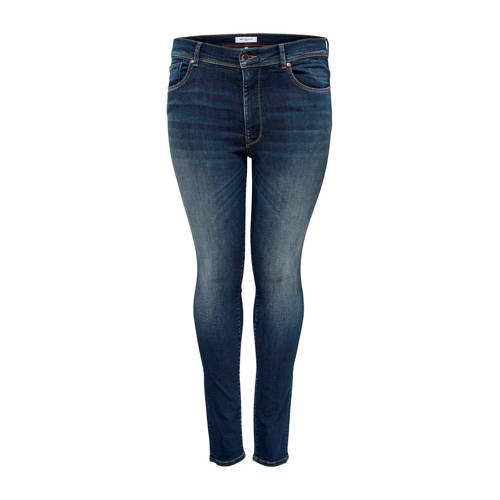 ONLY CARMAKOMA high waist skinny jeans Maya donker