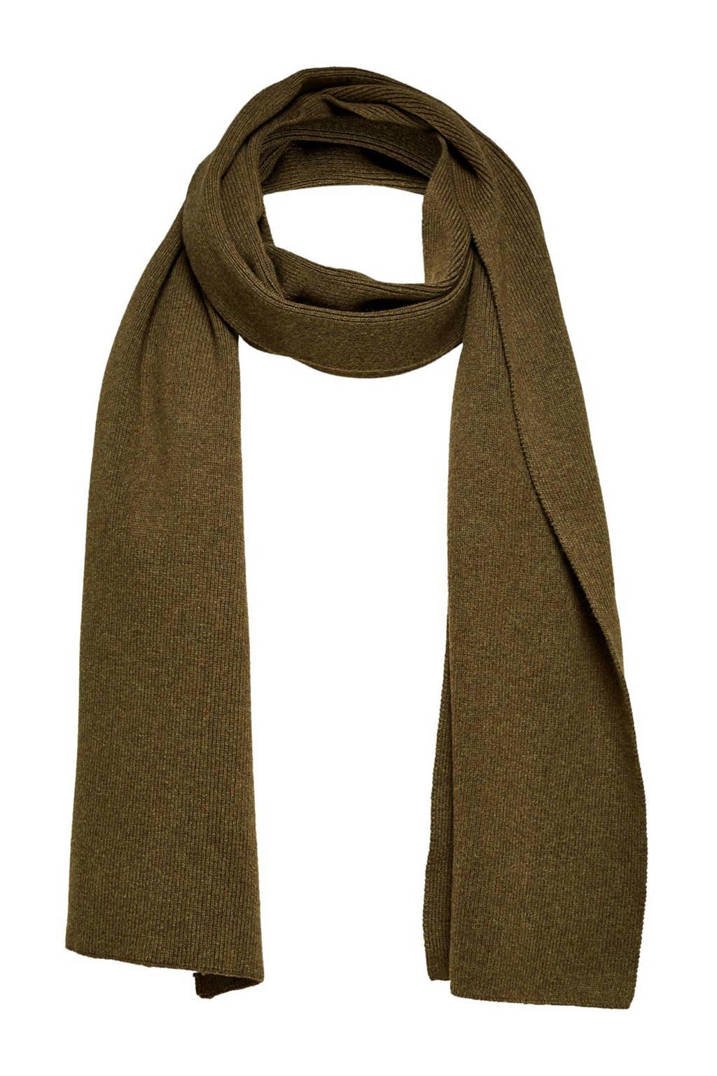 SELECTED HOMME sjaal Leth olijfgroen, Olijfgroen