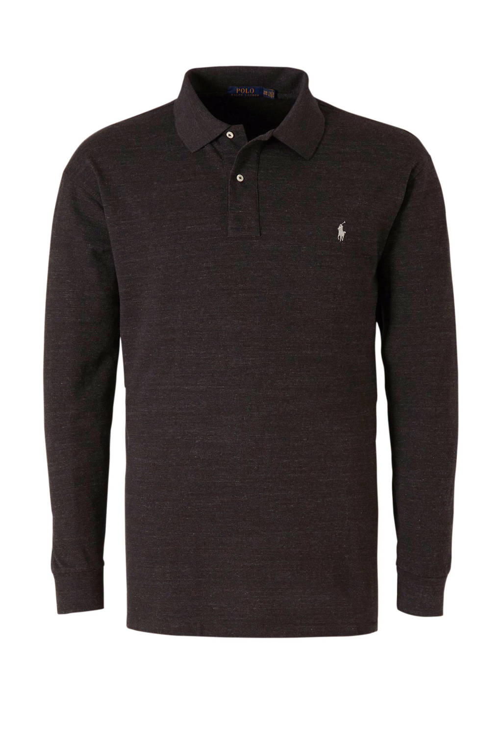 POLO Ralph Lauren Big & Tall +size gemêleerde regular fit polo zwart, Zwart