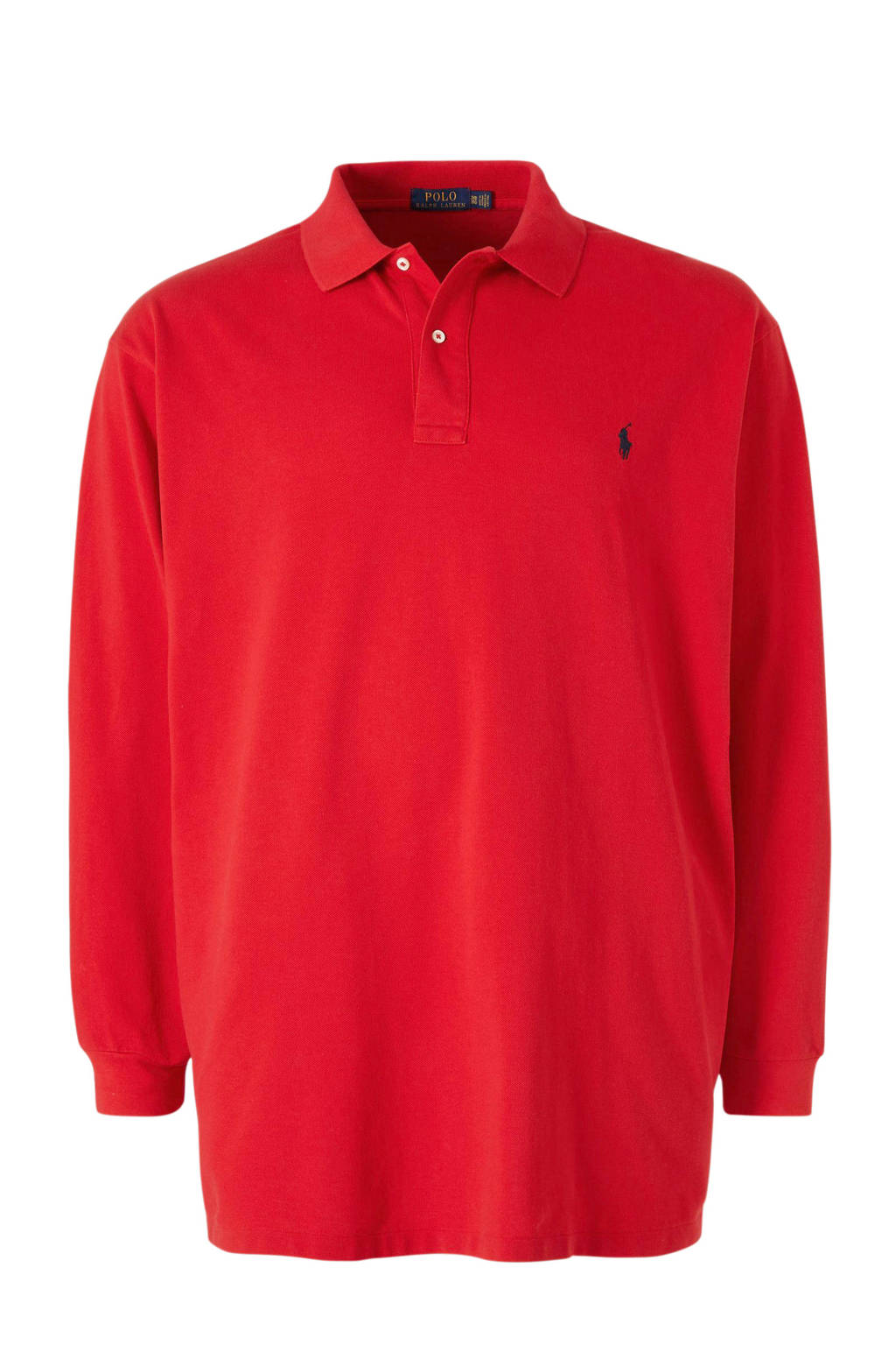 POLO Ralph Lauren Big & Tall +size regular fit polo met logo rood, Rood