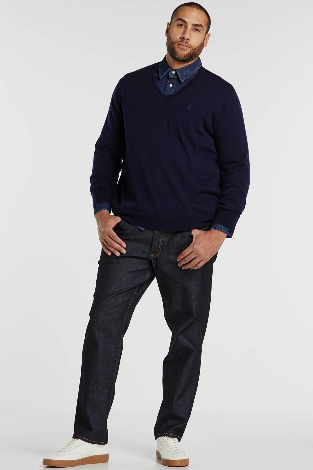 POLO Ralph Lauren Big & Tall +size wollen trui donkerblauw, Donkerblauw