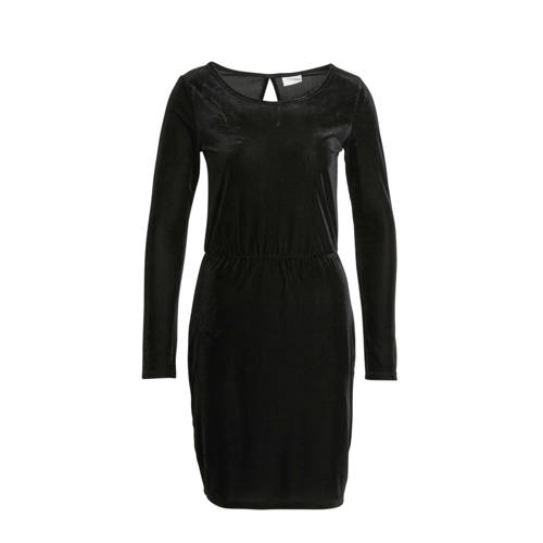 VILA fluwelen jurk zwart