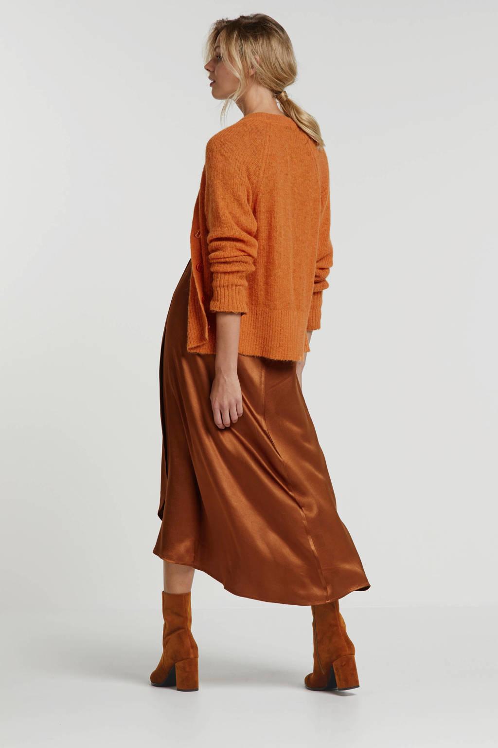 Steps vest met wol oranje, Oranje