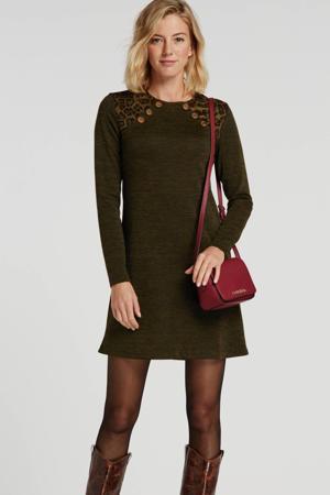 jersey jurk Jago donkergroen/bruin