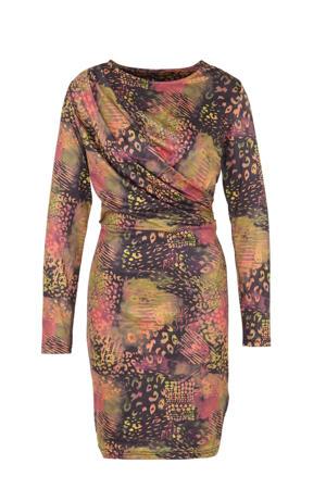 jersey jurk Selah met all over print multi