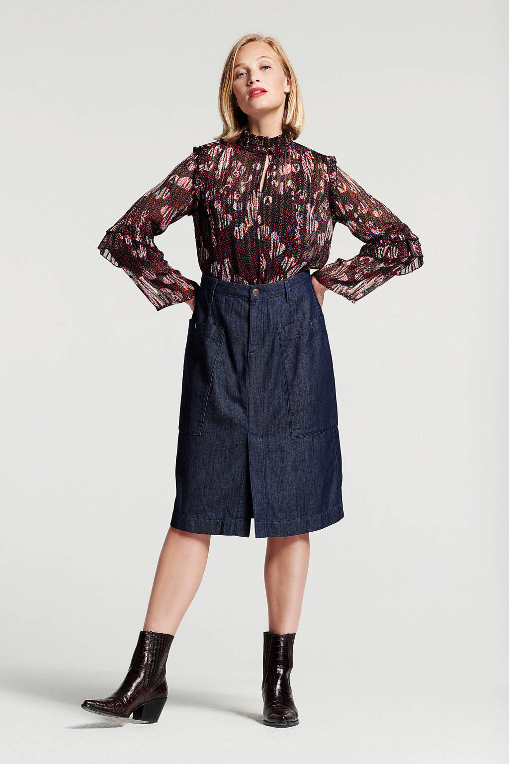 Didi rok donkerblauw, Donkerblauw
