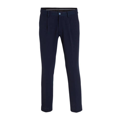 WE Fashion slim fit pantalon royal navy