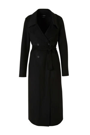 The Outerwear tussenjas met wol zwart