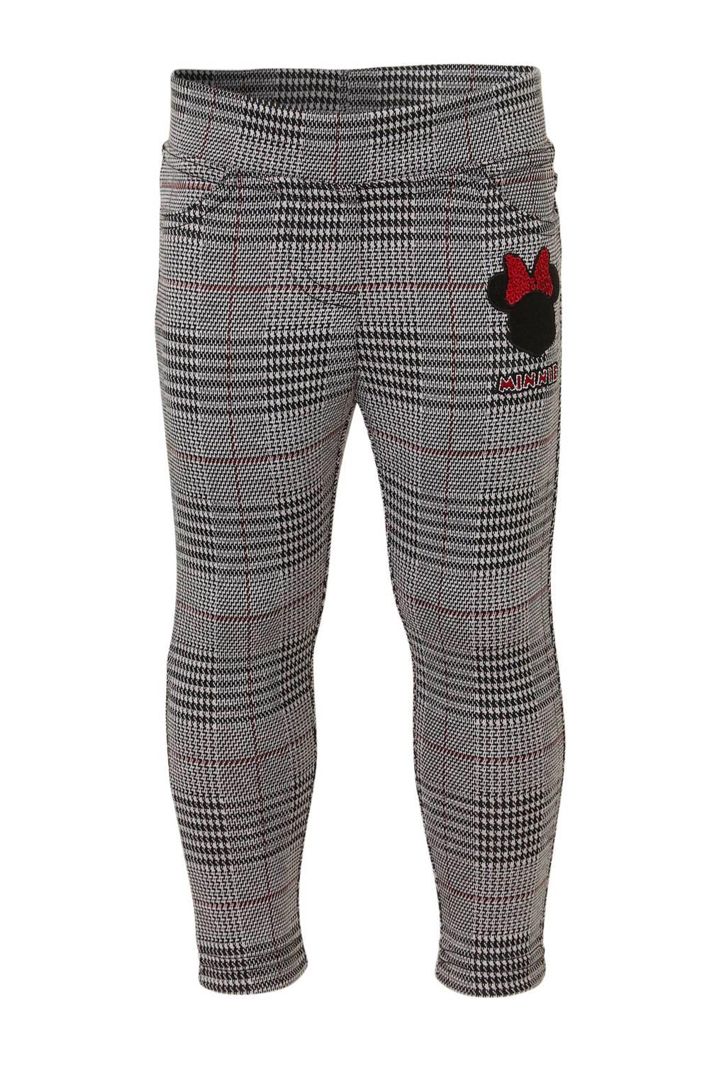 Disney @ C&A geruite legging antraciet/ rood, Antraciet/ Rood