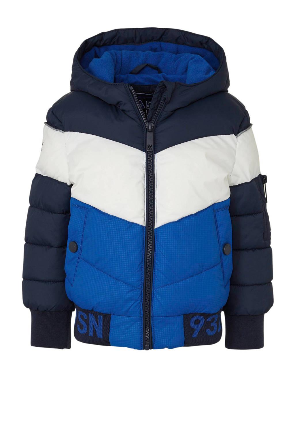 C&A Palomino winterjas met tekst blauw, Blauw