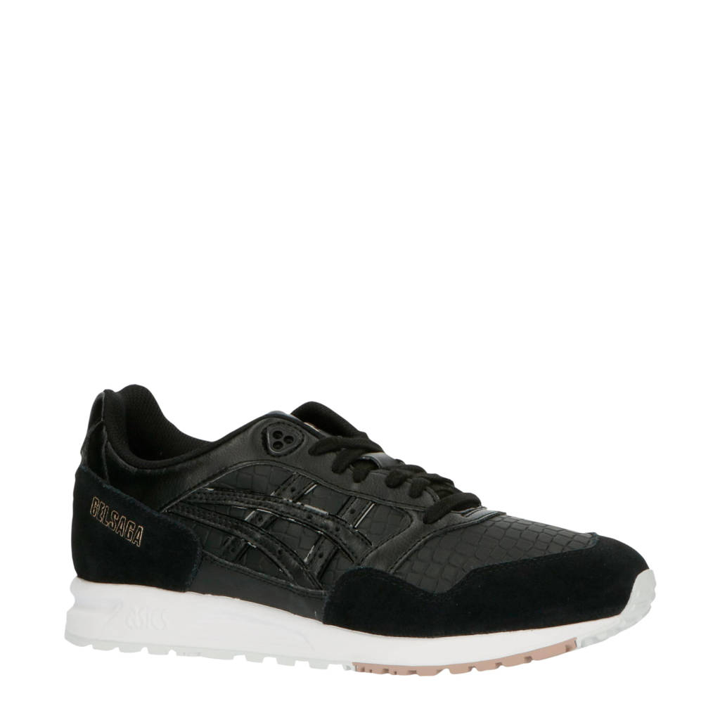 ASICS Tiger Gelsaga  sneakers zwart, Zwart/wit