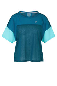ASICS hardloop T-shirt blauw, Blauw/petrol/turquoise