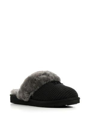 Cozy Knit pantoffels zwart/grijs