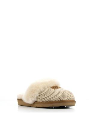 Cozy Knit pantoffels beige