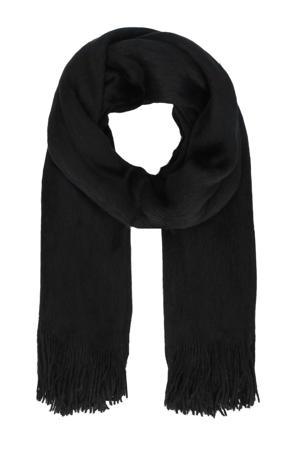 sjaal acryl zwart