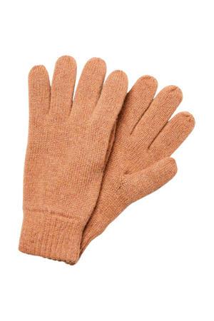 wollen handschoen beige