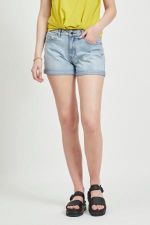 high waist jeans short lichtblauw