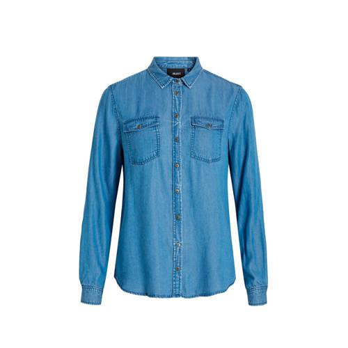 OBJECT denim blouse blauw