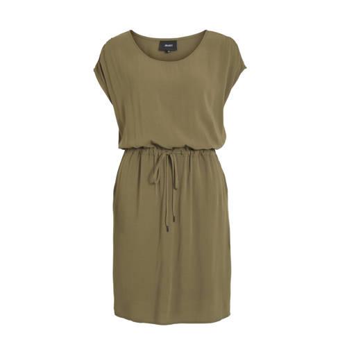 OBJECT jurk olijfgroen