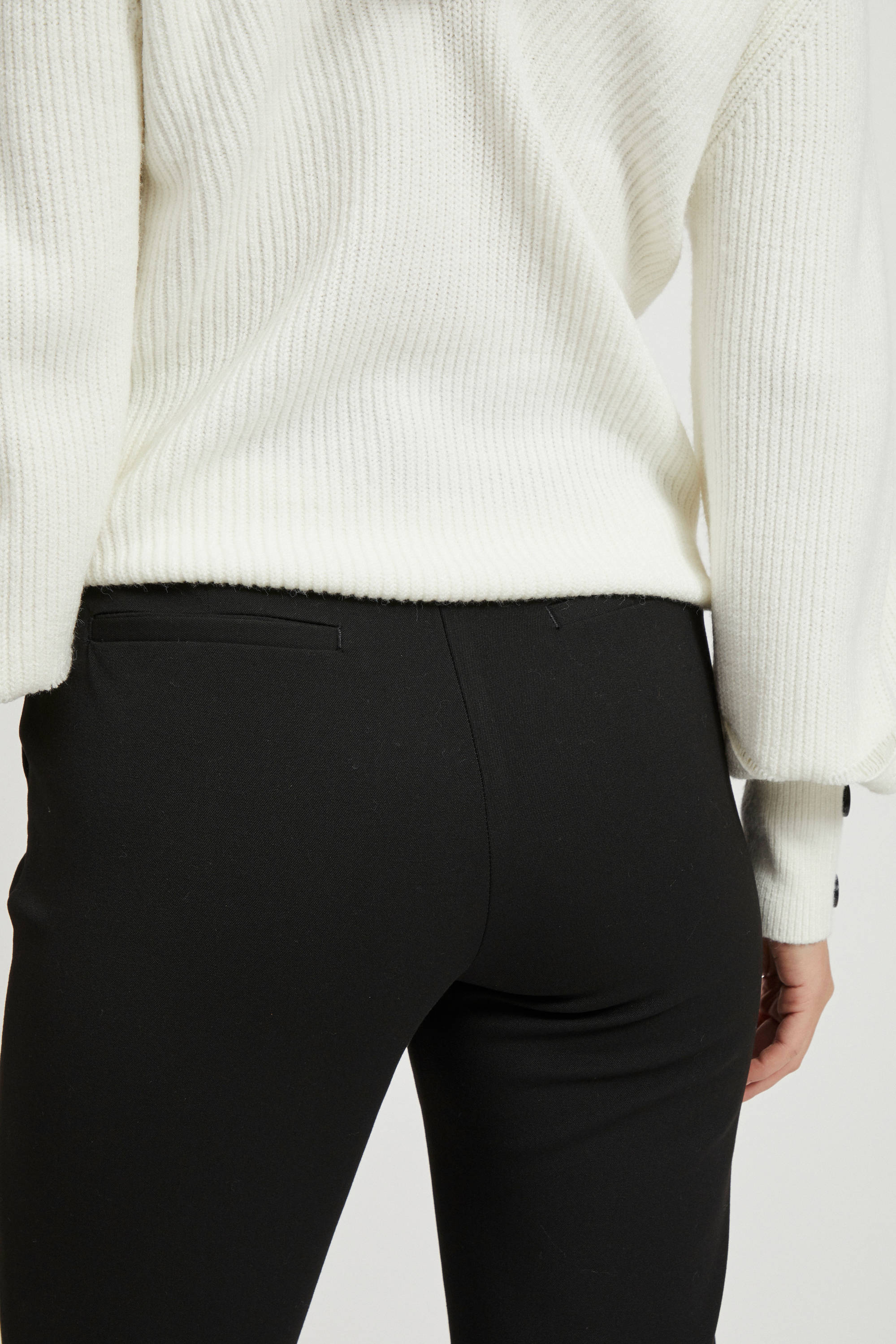 flared pantalon zwart