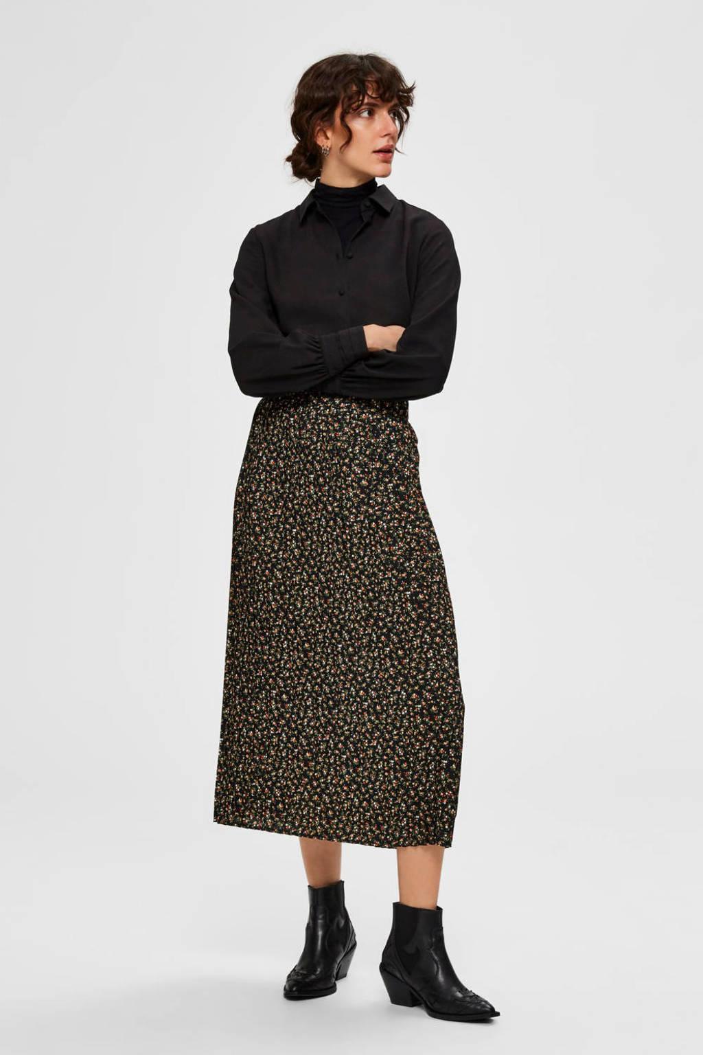 SELECTED FEMME blouse zwart, Zwart