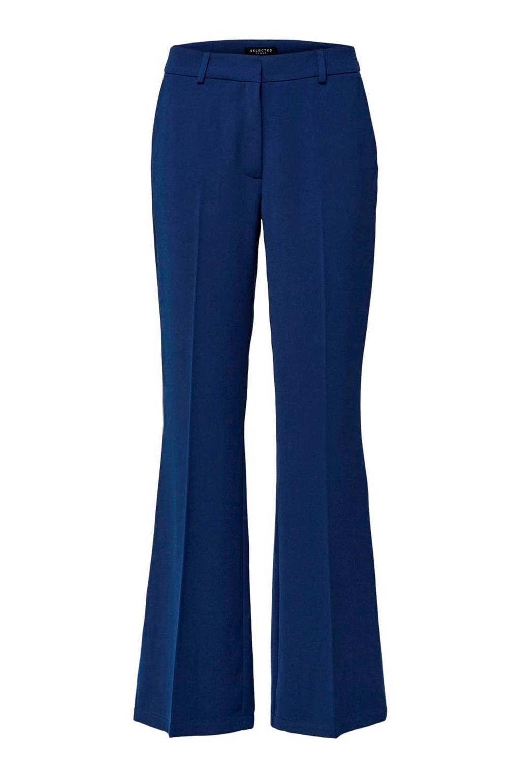 SELECTED FEMME high waist flared pantalon blauw, Blauw