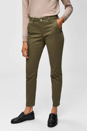slim fit chino olijfgroen